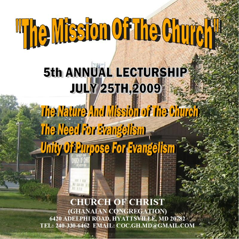 """The Mission Of The Church"""